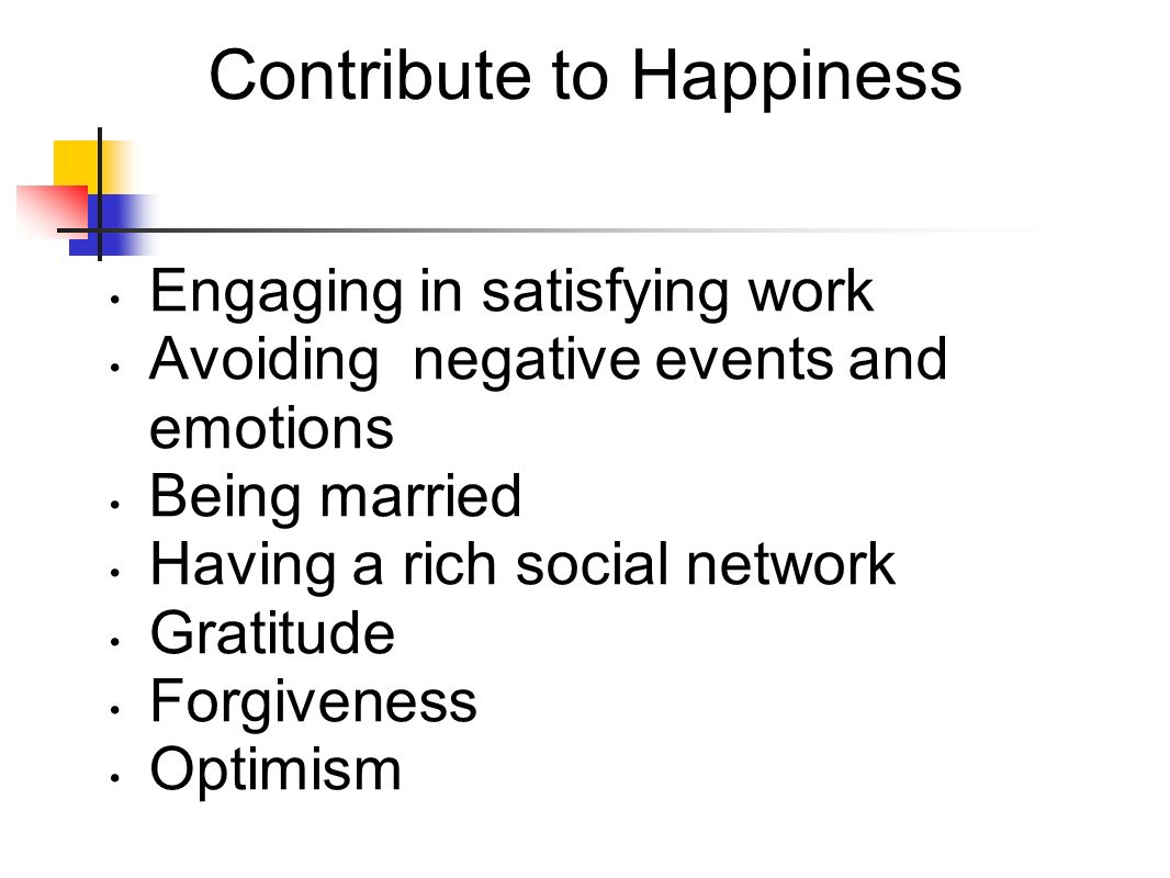 Contribute to Happiness