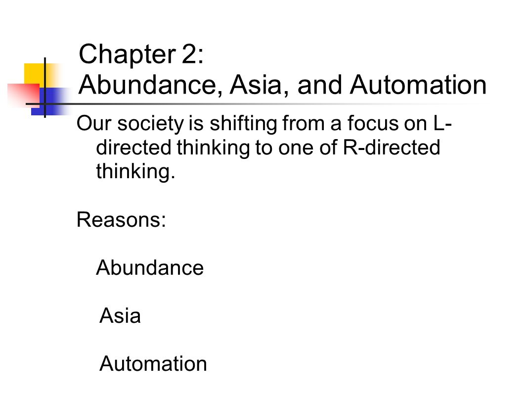 Chapter 2: Abundance, Asia, and Automation