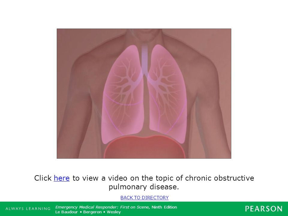 Click here to view a video on the topic of chronic obstructive pulmonary disease.