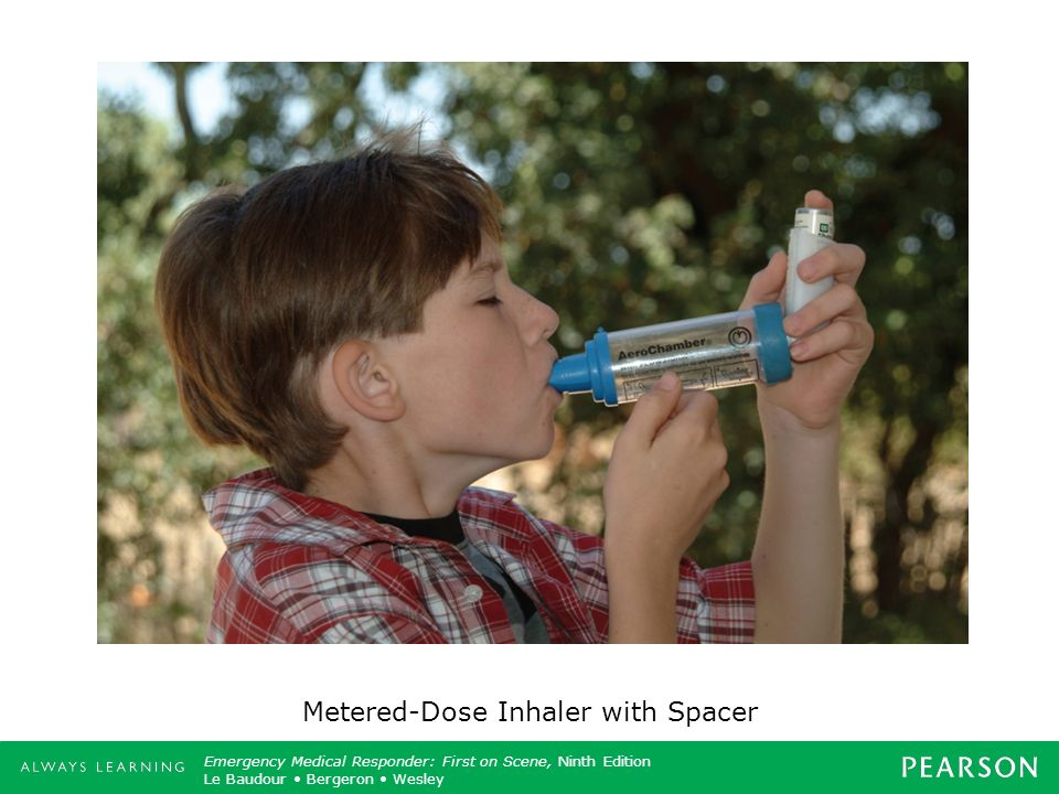 Metered-Dose Inhaler with Spacer