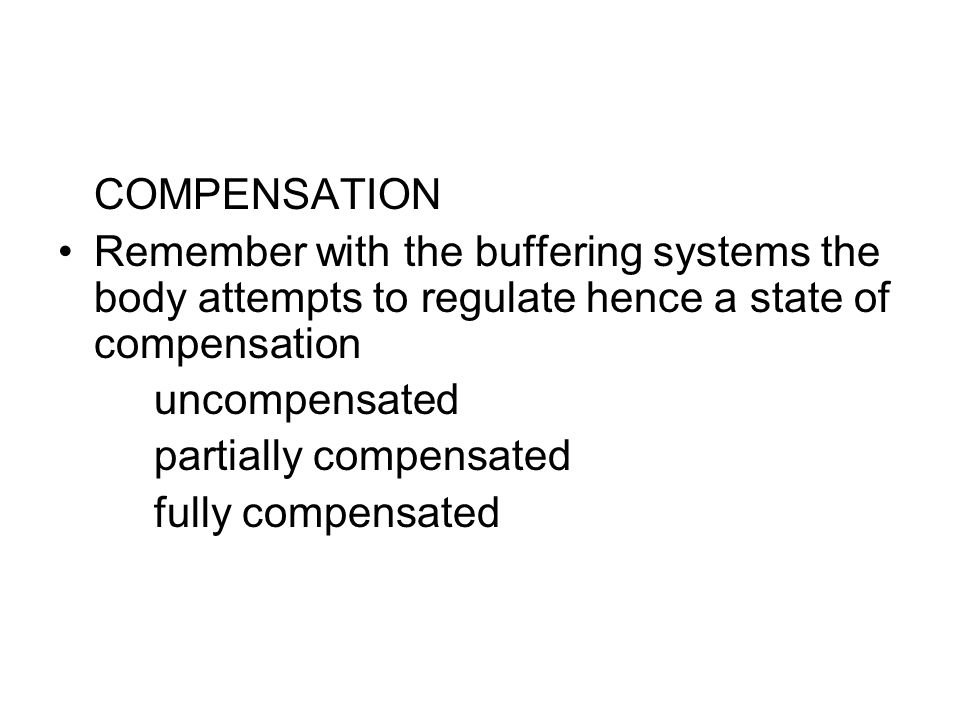 partially compensated fully compensated