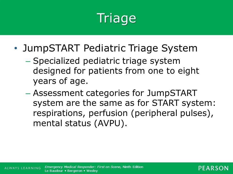 Triage JumpSTART Pediatric Triage System