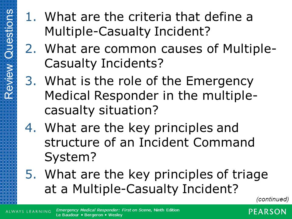 What are the criteria that define a Multiple-Casualty Incident