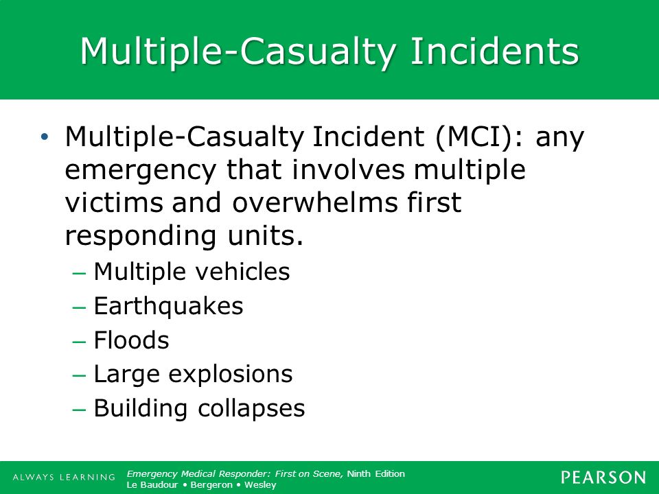 Multiple-Casualty Incidents