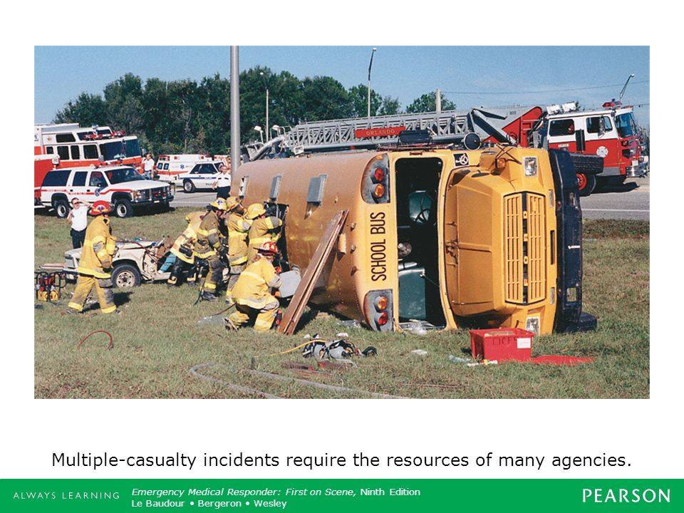 Multiple-casualty incidents require the resources of many agencies.
