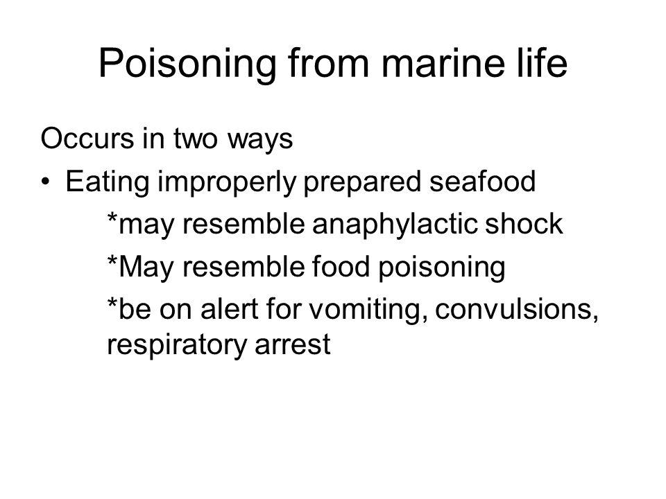 Poisoning from marine life