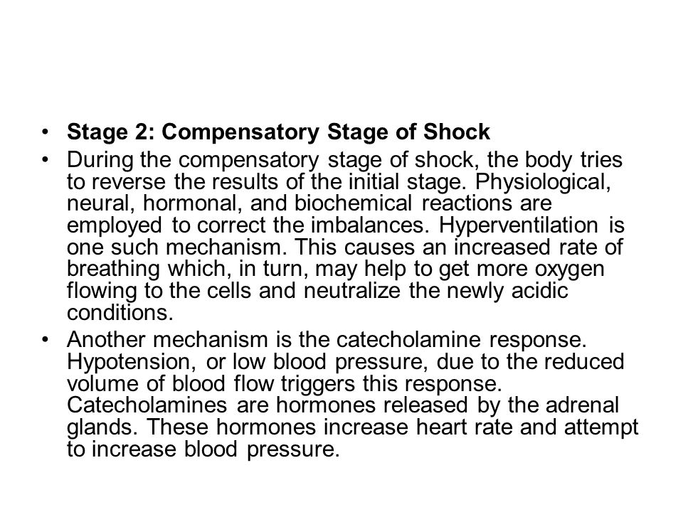 Stage 2: Compensatory Stage of Shock