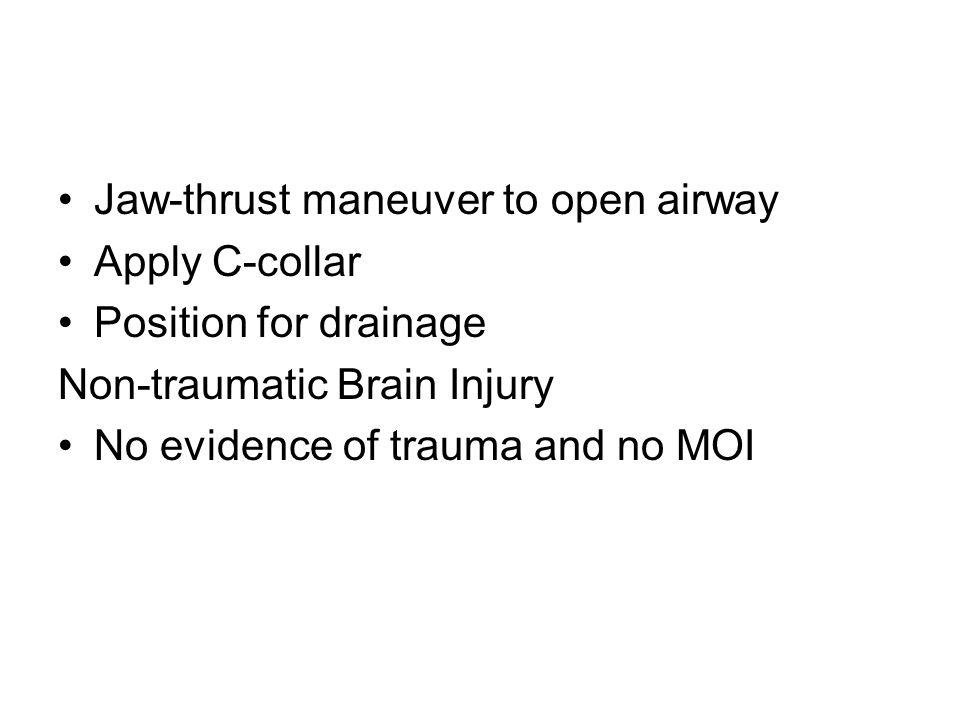 Jaw-thrust maneuver to open airway