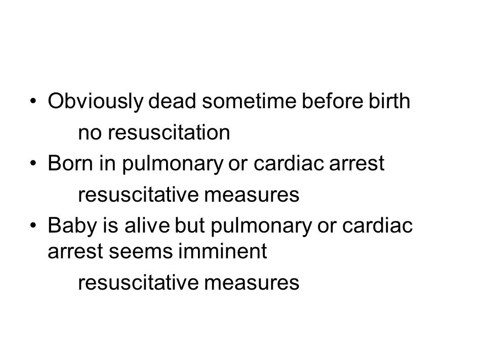 Obviously dead sometime before birth