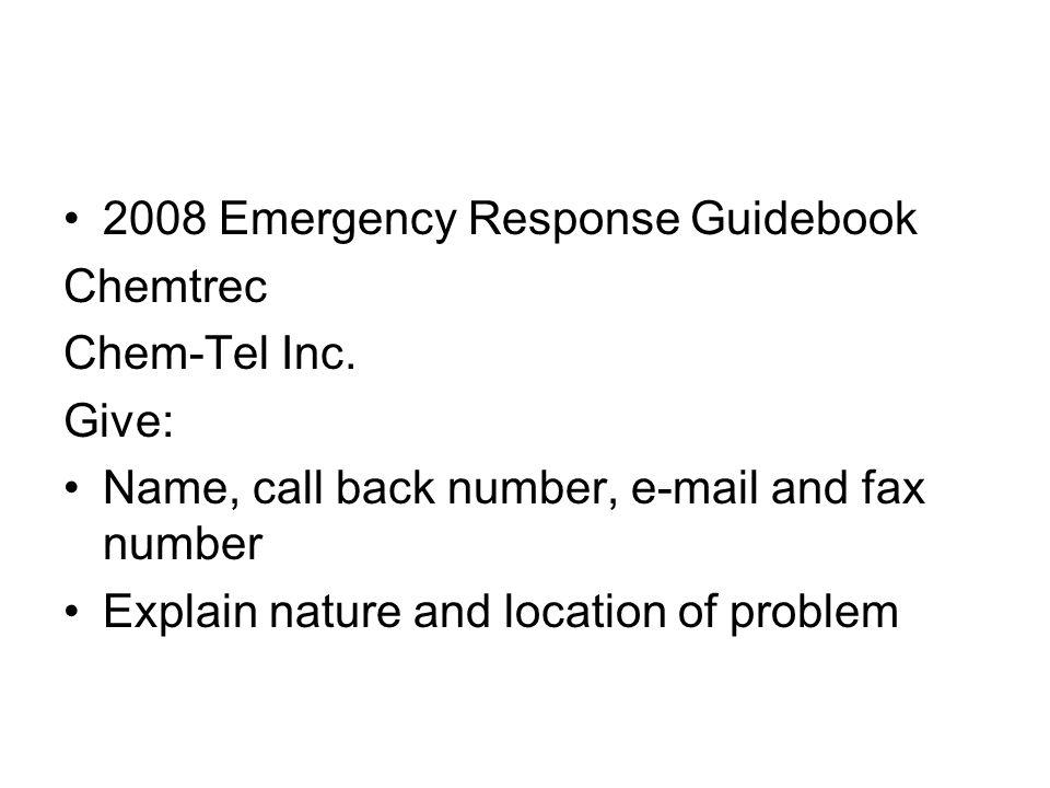 2008 Emergency Response Guidebook