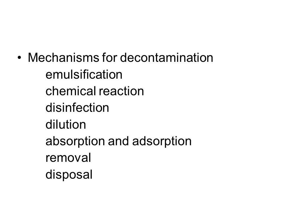 Mechanisms for decontamination