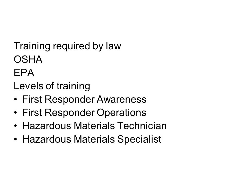 Training required by law