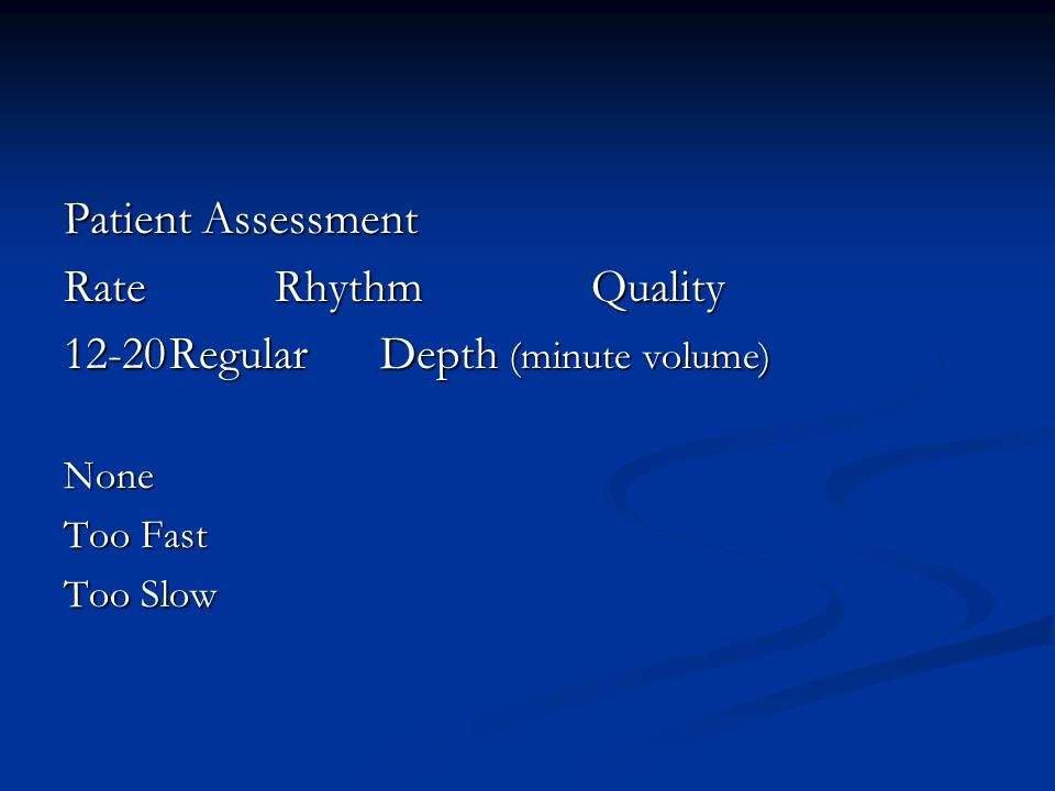 12-20 Regular Depth (minute volume)