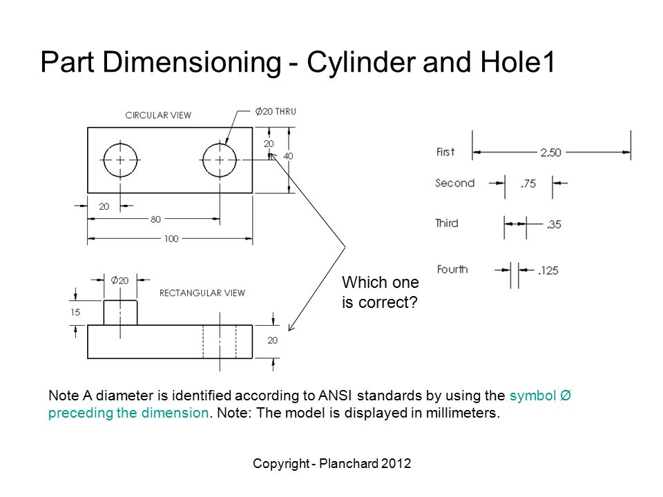 Part And Drawing Dimensioning Ppt Video Online Download