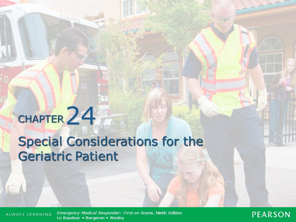 Special Considerations for the Geriatric Patient