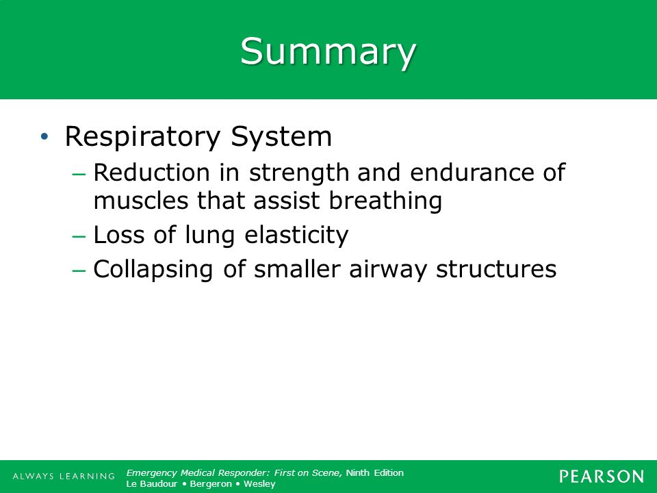 Summary Respiratory System