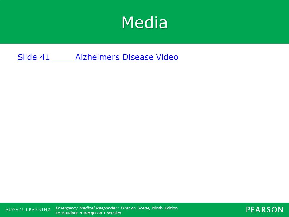 Media Slide 41 Alzheimers Disease Video