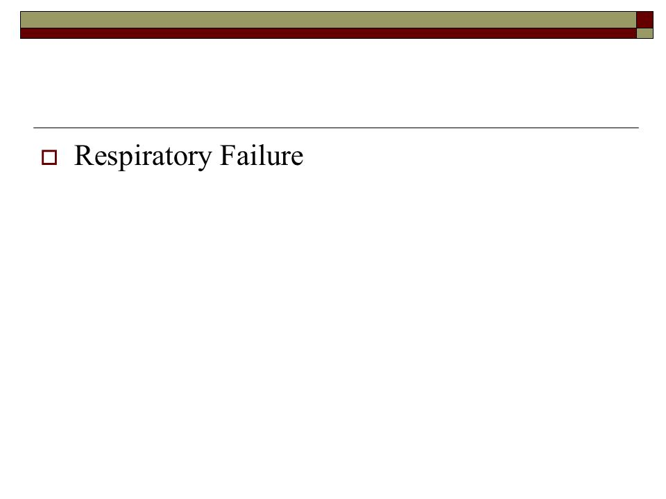 Respiratory Failure DELETE NOTE