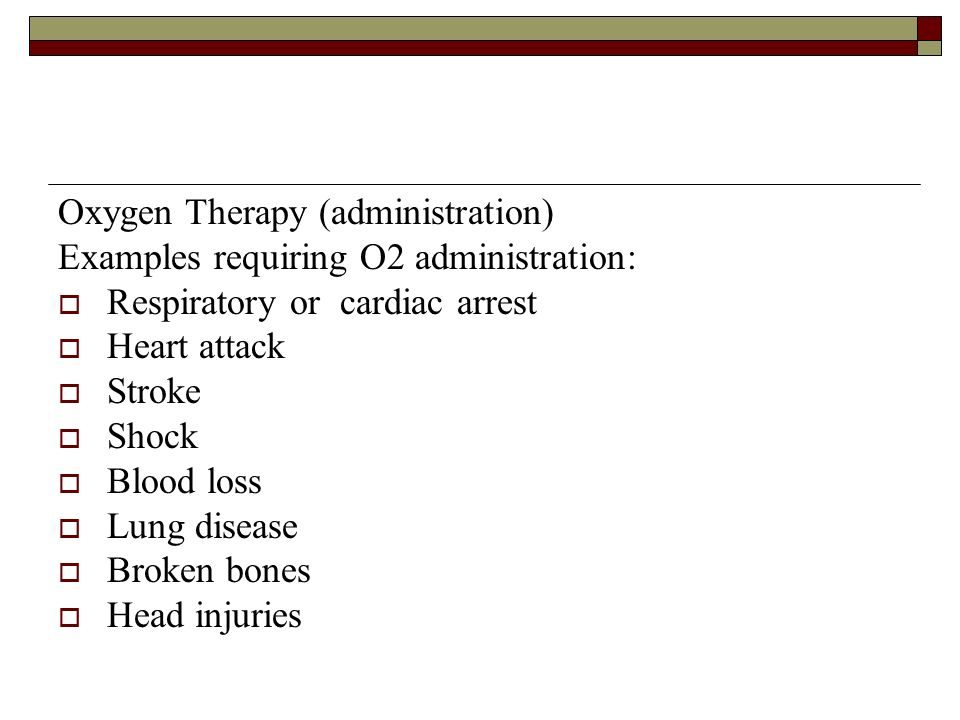 Oxygen Therapy (administration)