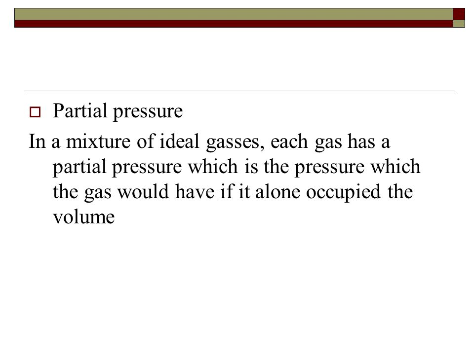 Partial pressure