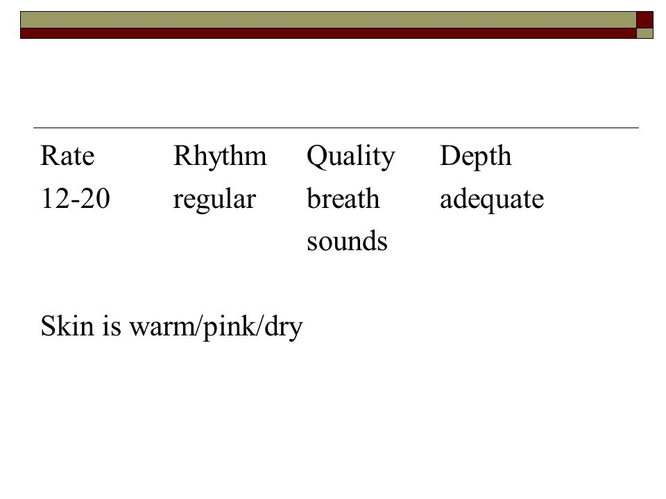 Rate Rhythm Quality Depth
