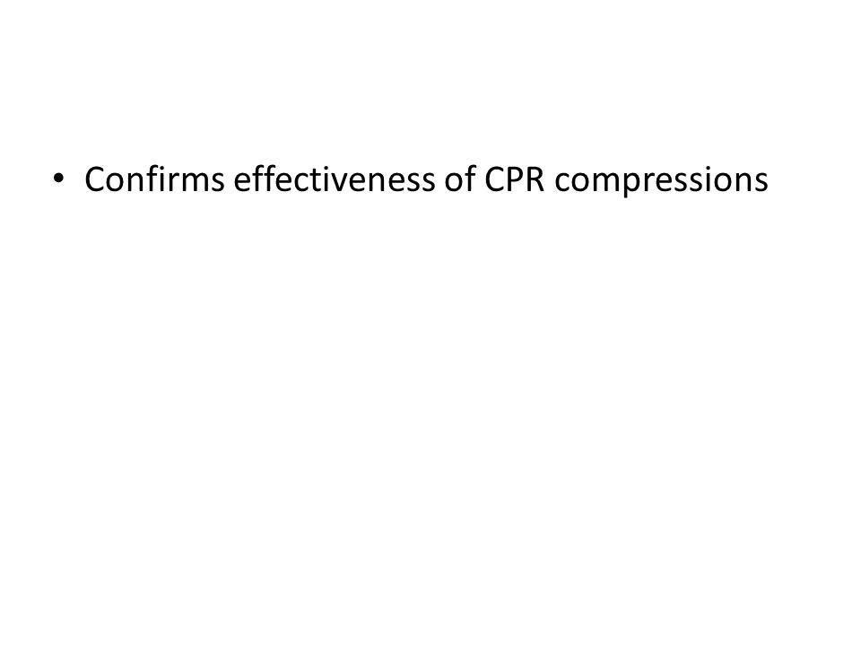 Confirms effectiveness of CPR compressions