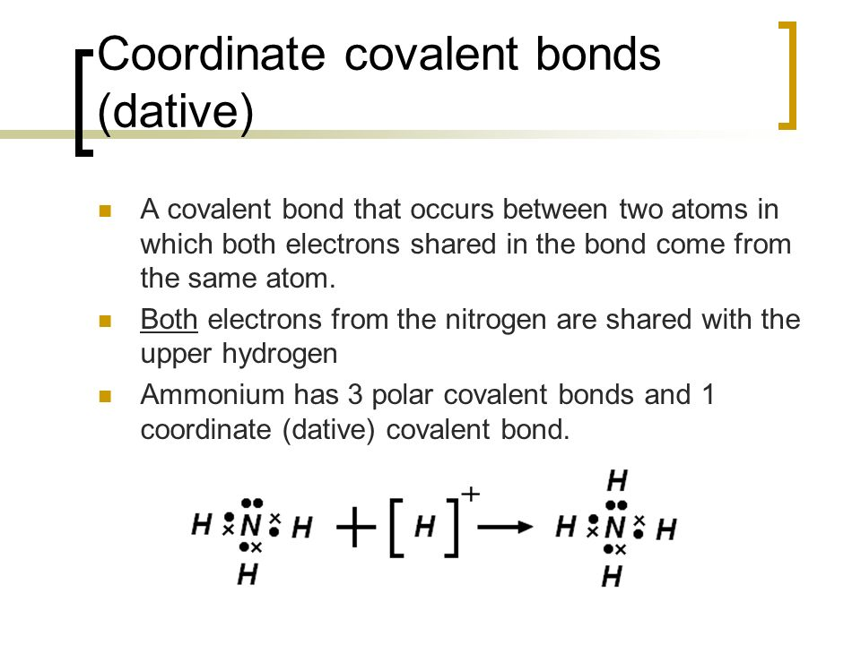 4.2 Covalent Bonding Describe the covalent bond as the ...