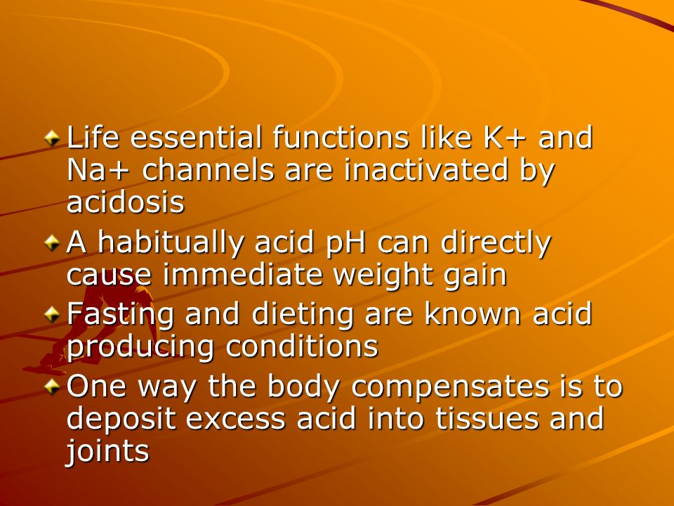 Life essential functions like K+ and Na+ channels are inactivated by acidosis