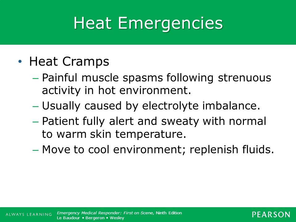 Heat Emergencies Heat Cramps