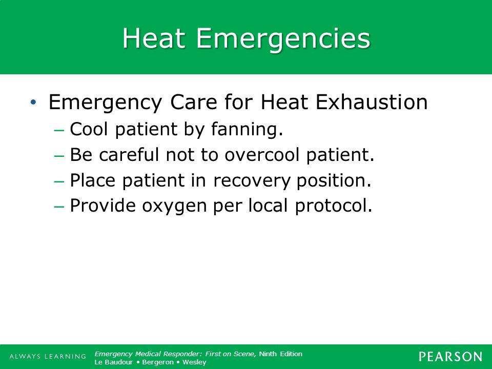 Heat Emergencies Emergency Care for Heat Exhaustion