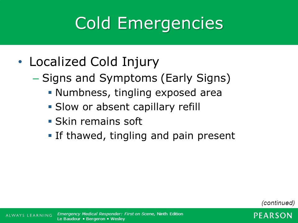 Cold Emergencies Localized Cold Injury