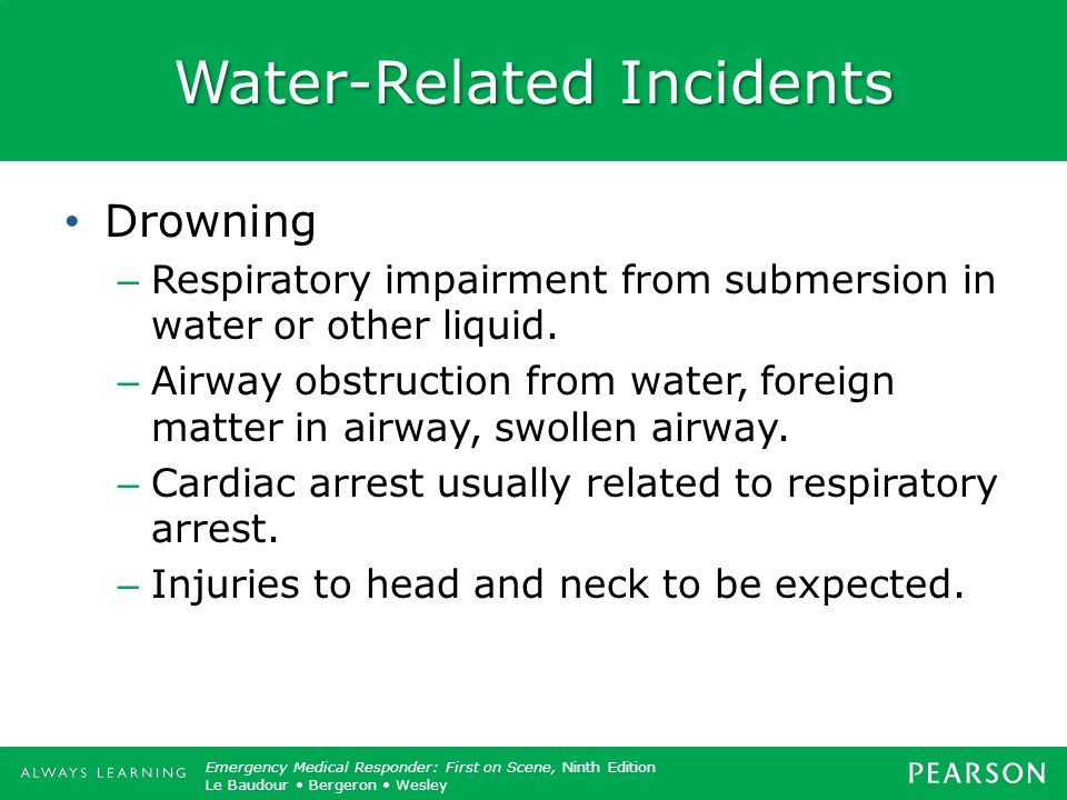 Water-Related Incidents