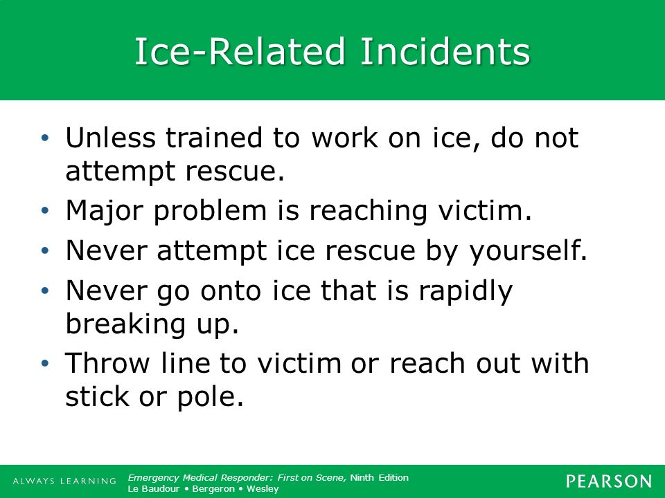 Ice-Related Incidents