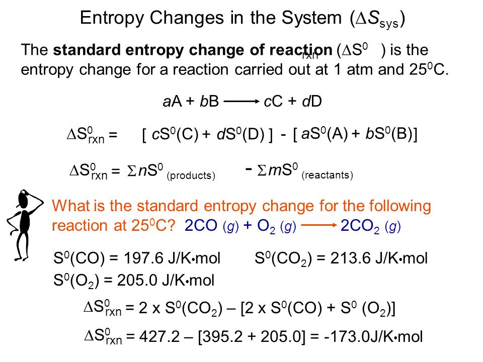 how to calculate standard entropy change