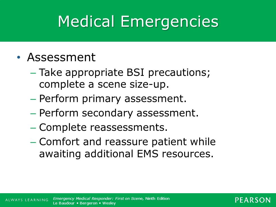 Medical Emergencies Assessment