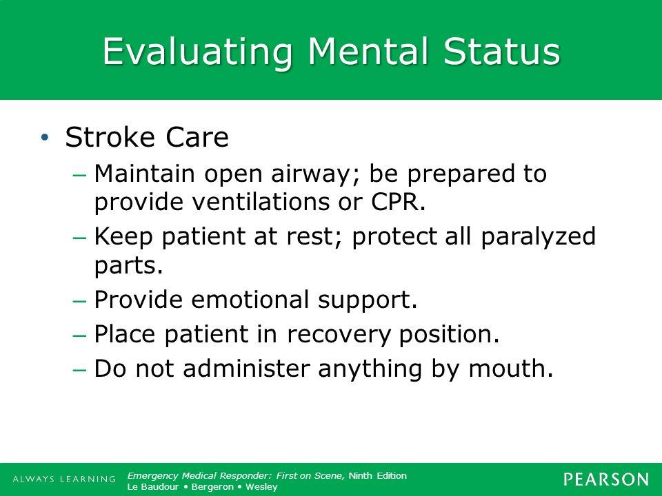 Evaluating Mental Status