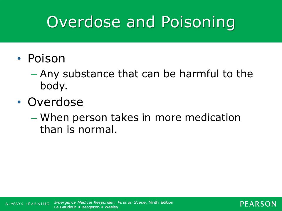 Overdose and Poisoning