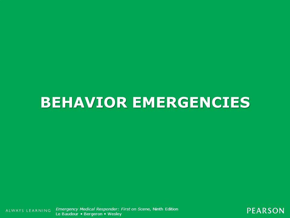 BEHAVIOR EMERGENCIES