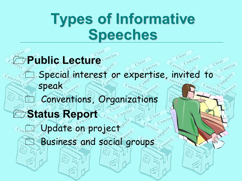4 Basic Types of Speeches