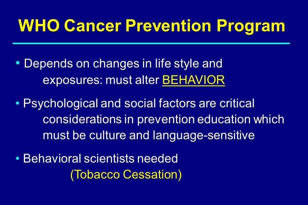 WHO Cancer Prevention Program