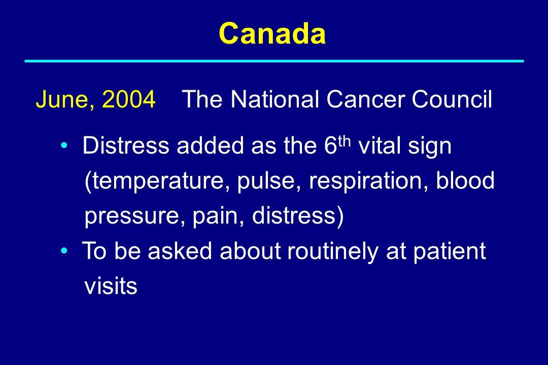 Canada June, 2004 The National Cancer Council