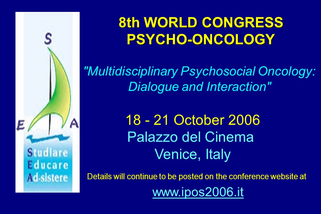 8th WORLD CONGRESS PSYCHO-ONCOLOGY