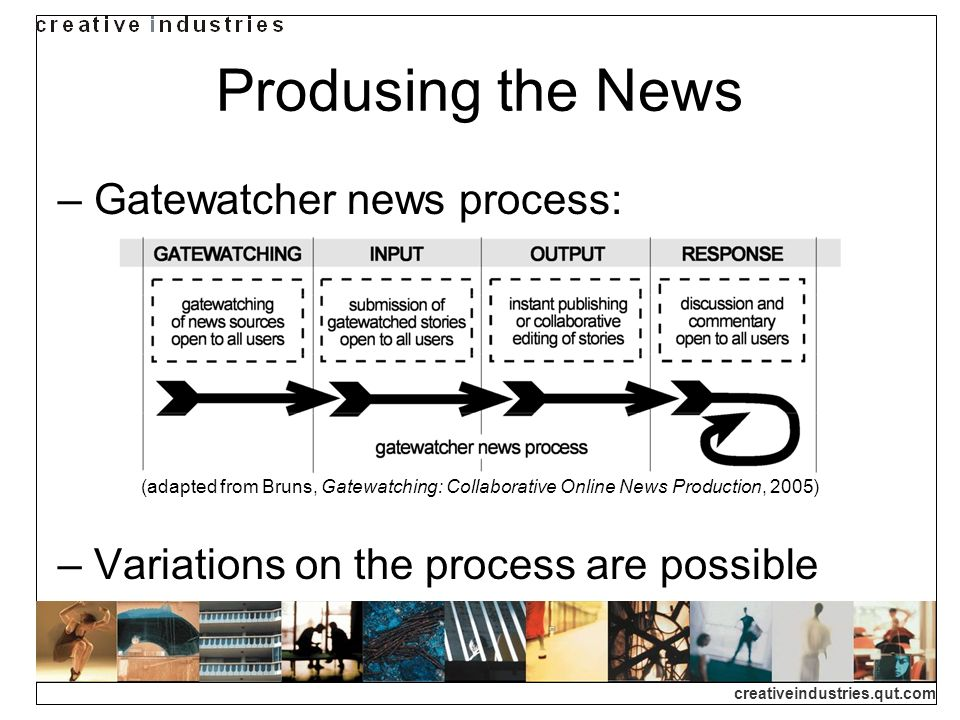 Produsing the News Gatewatcher news process: