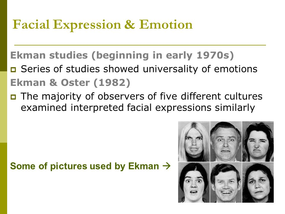 Cultural Differences in Facial Expressions