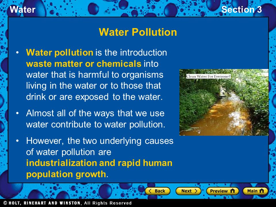 INTRODUCTION OF WATER POLLUTION