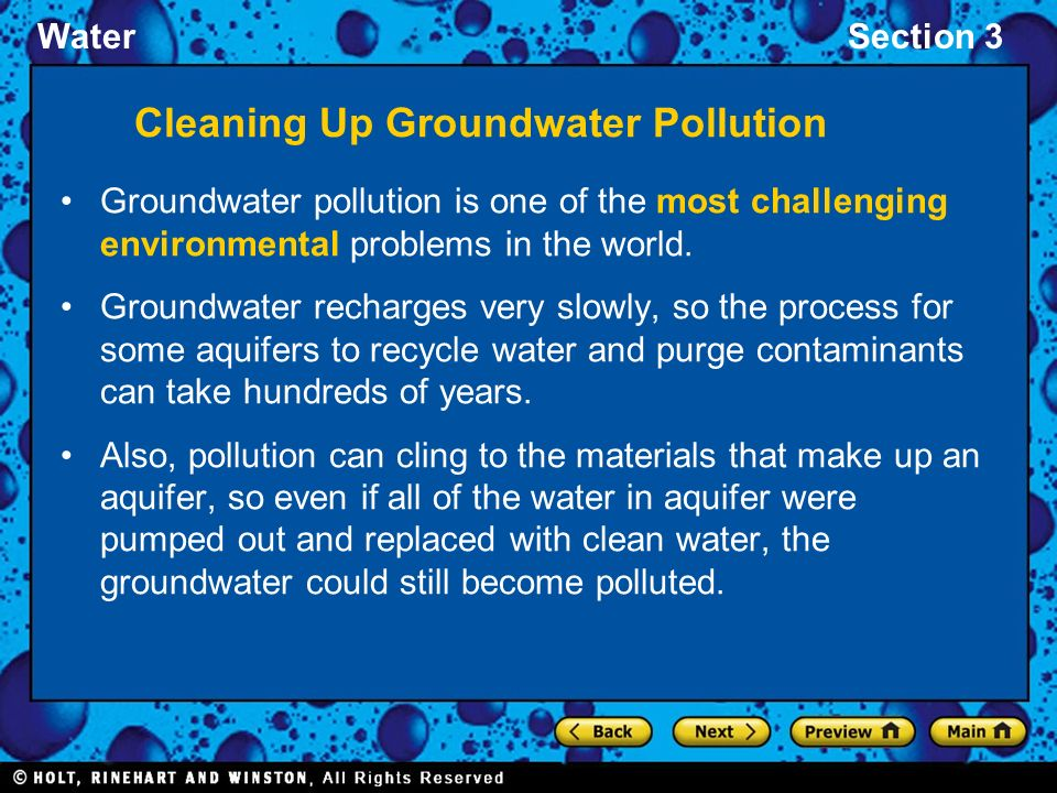 Cleaning Up Groundwater Pollution