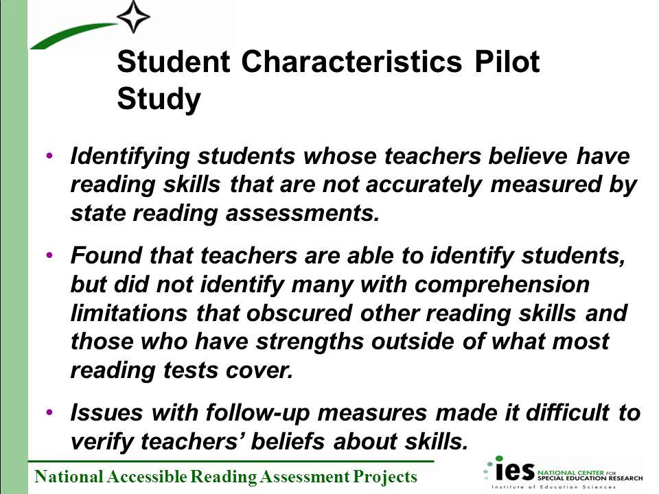 Student Characteristics Pilot Study