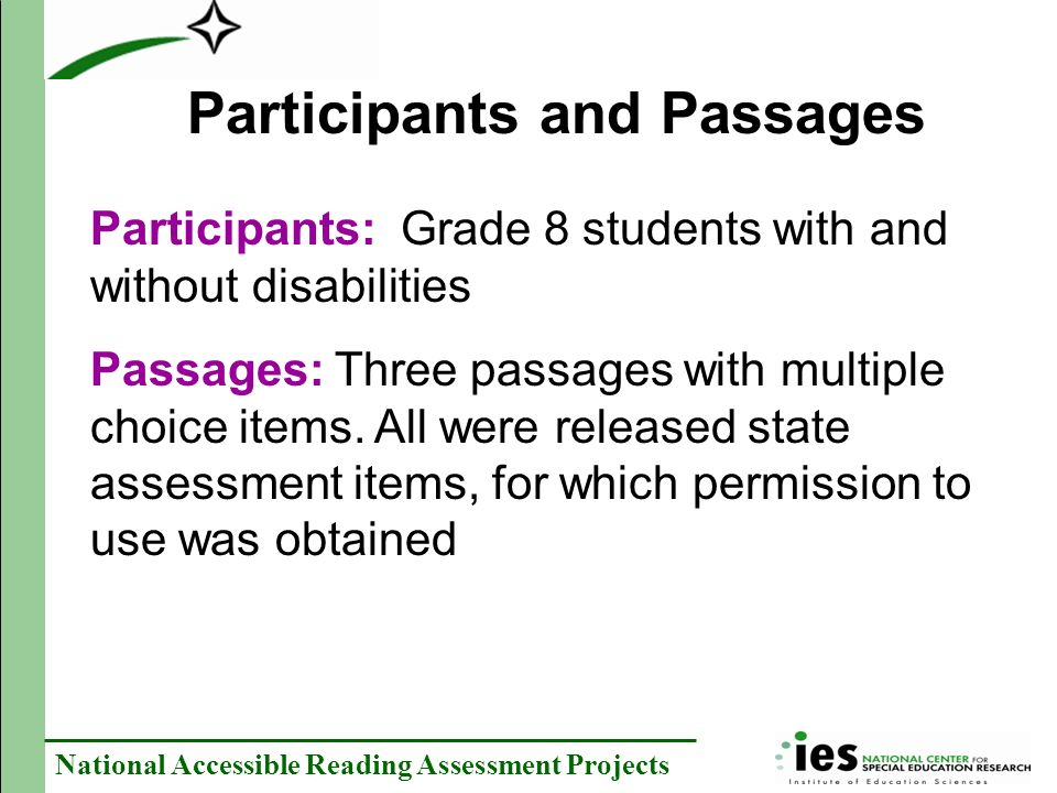 Participants and Passages