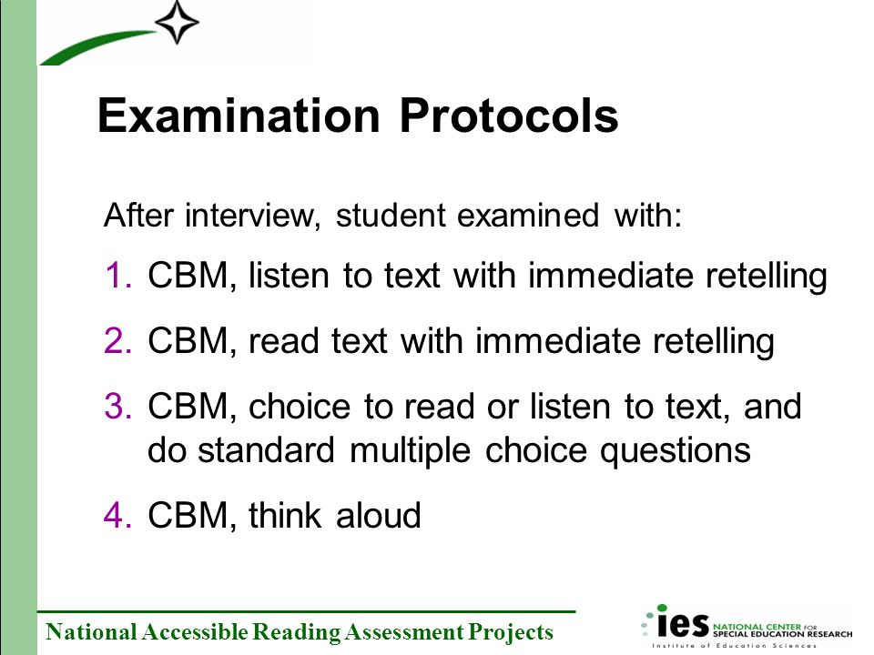 Examination Protocols