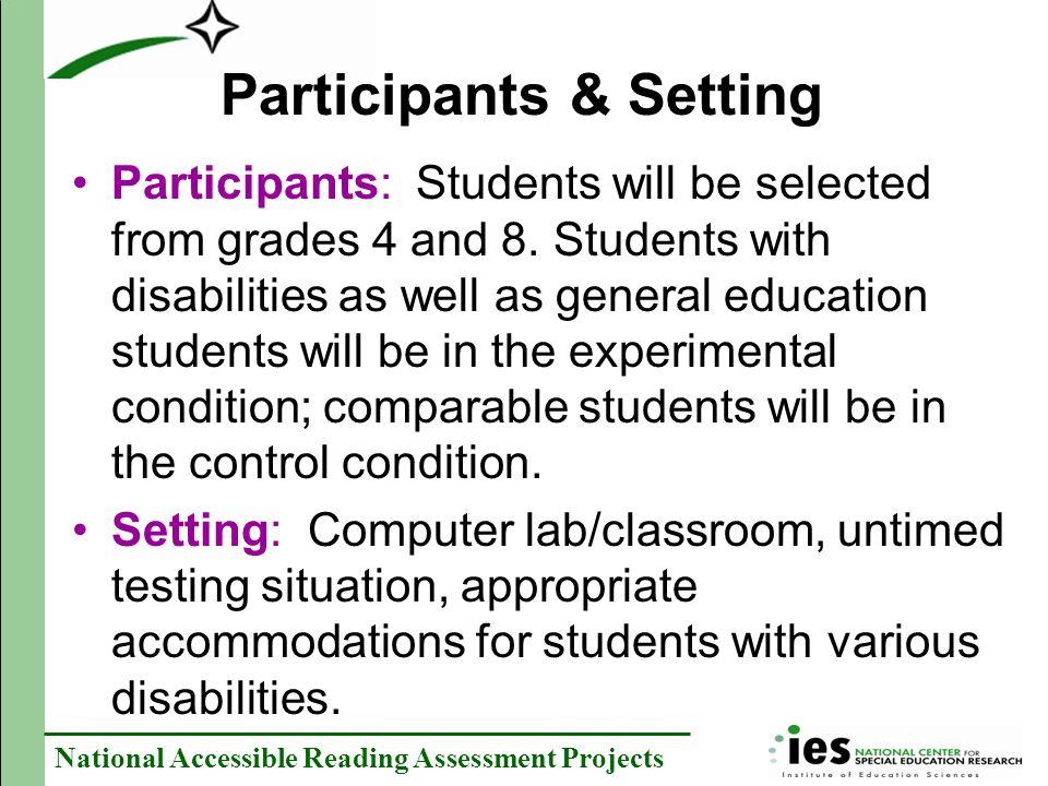 Participants & Setting